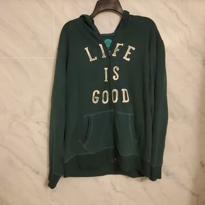 XL LIFE IS GOOD FULL ZIP HOODIE